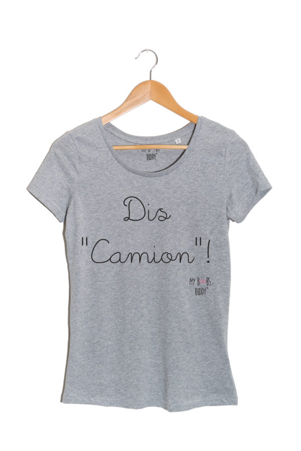 t-shirt gris dis camion cancer du sein association autopalpation
