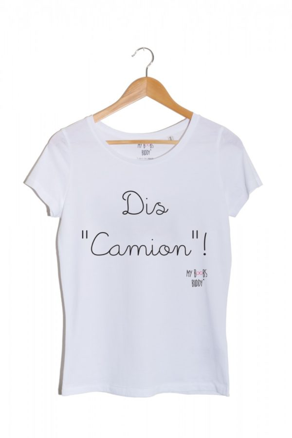 t-shirt dis camion cancer du sein association autopalpation