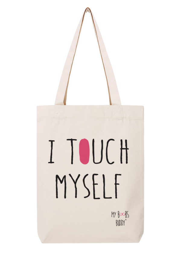 i touch myself dis camion sac coton tote bag autopalpation cancer du sein